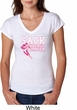 Sack Breast Cancer Ladies Tri Blend V-Neck Shirt