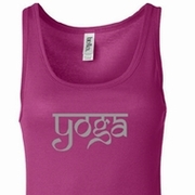 Sanskrit Yoga Text Ladies Yoga Shirts