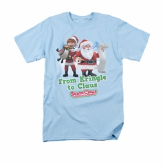 Santa Clause Shirt From Kringle Light Blue T-Shirt