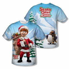 Santa Clause Shirt Santa's Helper Sublimation Shirt Front/Back Print