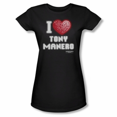 Saturday Night Fever Shirt Juniors I Heart Tony Black Tee T-Shirt