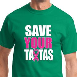 Save Your Tatas Mens Breast Cancer Awareness Shirts
