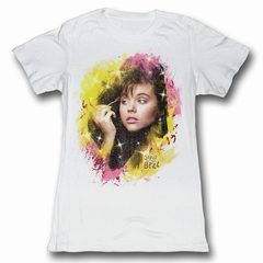Saved By The Bell Juniors Shirt All Made Up White Tee T-Shirt