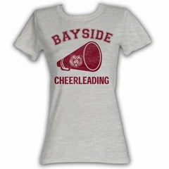 Saved By The Bell Juniors Shirt Cheerleading Logo Grey Tee T-Shirt