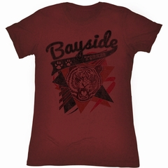 Saved By The Bell Juniors Shirt Sharp Tiger Maroon Tee T-Shirt