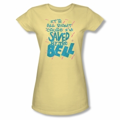 Saved By The Bell Shirt Juniors I'm Saved Yellow T-Shirt