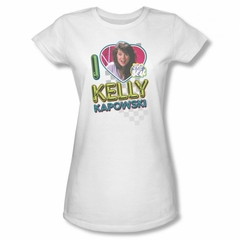 Saved By The Bell Shirt Juniors Kelly White T-Shirt