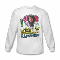 Saved By The Bell Shirt Kelly Long Sleeve White T-Shirt