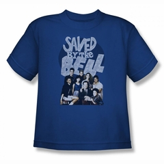 Saved By The Bell Shirt Kids Cast Royal Blue Youth T-Shirt