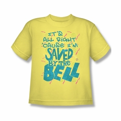 Saved By The Bell Shirt Kids I'm Saved Yellow Youth T-Shirt