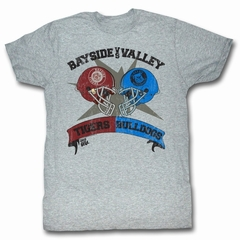 Saved By The Bell Shirt Rivalry Adult Heather Grey Tee T-Shirt