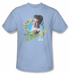 Saved By The Bell Shirt Zack Attack Adult Light Blue Tee T-Shirt