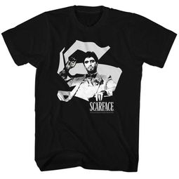 Scarface Shirt Black & White Black T-Shirt