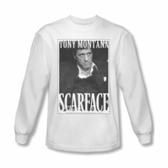 Scarface Shirt Business Face Long Sleeve White Tee T-Shirt