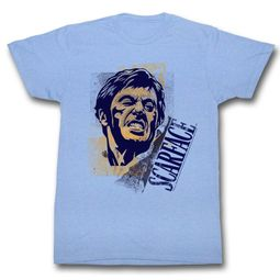 Scarface Shirt Grimace Light Blue T-Shirt