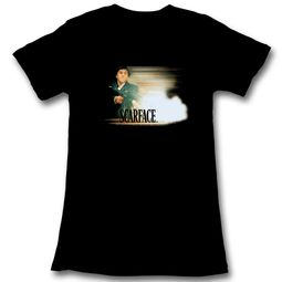 Scarface Shirt Juniors Muzzle Flash Black T-Shirt