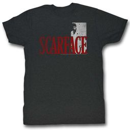 Scarface Shirt Logo Charcoal T-Shirt