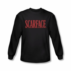 Scarface Shirt Logo Long Sleeve Black Tee T-Shirt