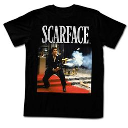 Scarface Shirt Machine Gun Black T-Shirt