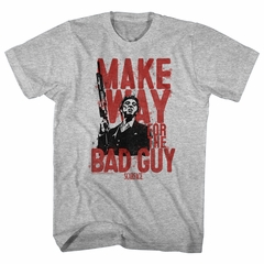 Scarface Shirt Make Way for the Bad Guy Athletic Heather T-Shirt