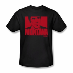 Scarface Shirt Montana Face Adult Black Tee T-Shirt