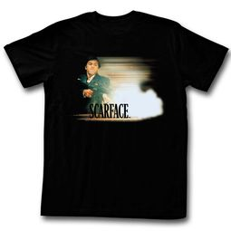 Scarface Shirt Muzzle Flash Black T-Shirt