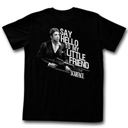 Scarface Shirt My Little Friend Sketch Black T-Shirt