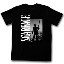 Scarface Shirt Silhoutte Black T-Shirt