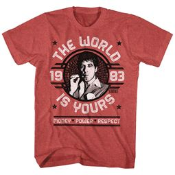 Scarface Shirt The World Is Yours Red Heather T-Shirt