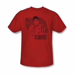 Scarface Shirt Truth Adult Red Tee T-Shirt