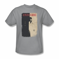 Scarface Shirt Vintage Poster Adult Silver Tee T-Shirt