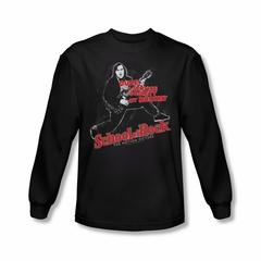 School Of Rock Shirt Rockin Long Sleeve Black Tee T-Shirt