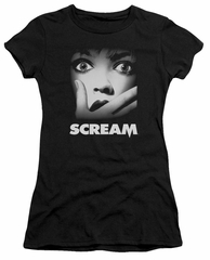 Scream  Juniors Shirt Movie Poster Black T-Shirt