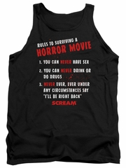 Scream  Tank Top Rules To Surviving A Horror Movie Black Tanktop