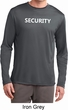 Security Guard Mens Dry Wicking Long Sleeve Shirt