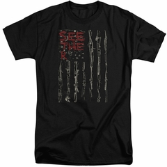 Seether Shirt Bone Flag Black Tall T-Shirt