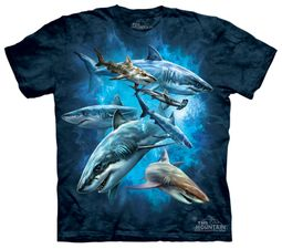 Shark Kids Shirt Tie Dye Collage T-shirt Tee Youth
