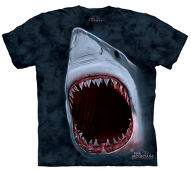 Shark Kids Shirt Tie Dye Great White Big Bite T-shirt Tee Youth