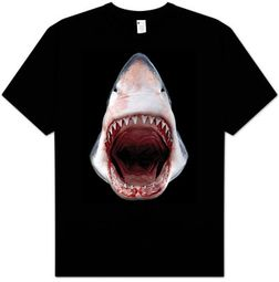 Shark T-shirt - Great White Shark 3D Awesome Adult Tee