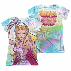 She-Ra Title Sublimation Juniors Shirt Front/Back Print