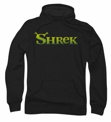 Shrek Hoodie Sweatshirt Logo Black Adult Hoody Sweat Shirt