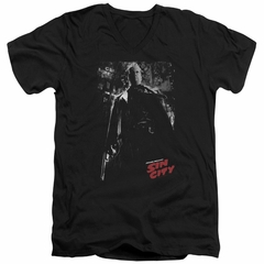 Sin City  Slim Fit V-Neck Shirt John Hartigan Black T-Shirt