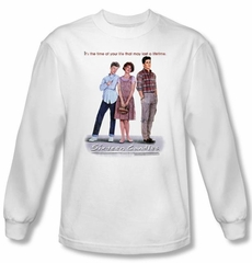 Sixteen Candles T-shirt Movie Poster Adult White Long Sleeve Tee Shirt