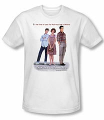 Sixteen Candles T-shirt Movie Poster Adult White Slim Fit Tee Shirt