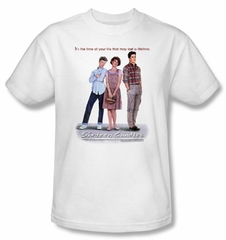 Sixteen Candles T-shirt Movie Poster Adult White Tee Shirt