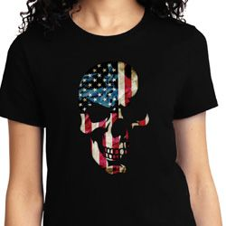 Skull Americana Ladies Shirts