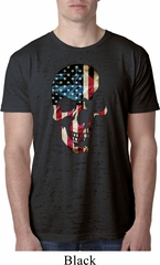 Skull Americana Mens Burnout Shirt