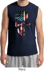 Skull Americana Mens Muscle Shirt