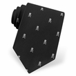 Skull Crossbones Black Microfiber Tie Necktie Men's Holiday Neck Tie