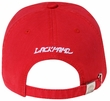Skull Embroidered 3D Hat - Distressed Visor Lackpard Cap - Red
